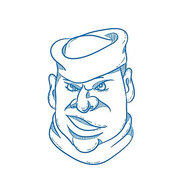 Angry Sailorman Head Cartoon by patrimonio