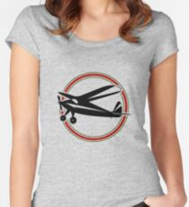 Vintage airplane Women's Fitted Scoop T-Shirt