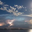 Full Moon Lake Storm by Bo Insogna
