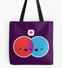 Diagramme d'amour Tote bag