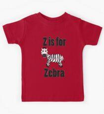 Z Is For Zebra Kids Tee