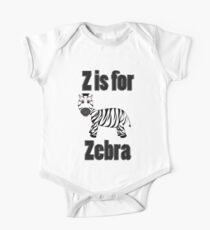 Z Is For Zebra One Piece - Short Sleeve