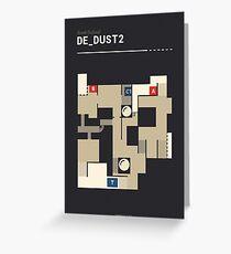 Counter-Strike de_dust2 Greeting Card