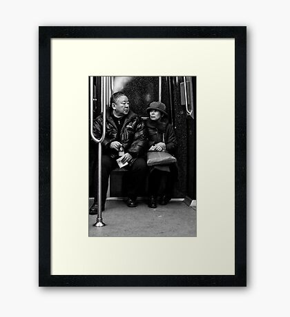 The couple Framed Print
