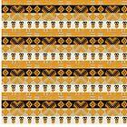 Ethnic African Tribal Stripes Pattern. by Stellagala