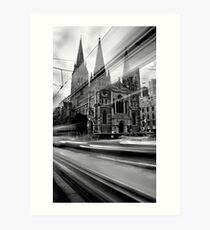 St Paul's Tram Art Print