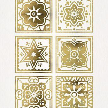 Talavera Mexican Tile – Gold Palette by catcoq