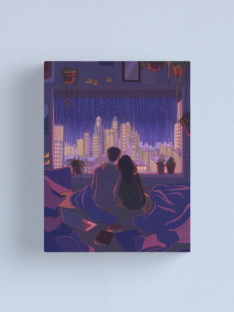 Alternate view of city nights Canvas Print
