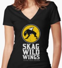 Skag Wild Wings (alternate) Women's Fitted V-Neck T-Shirt