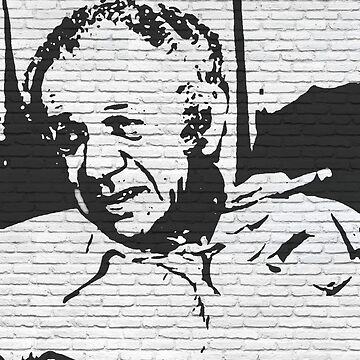 whitewall graffiti: Sid James by halibutgoatramb