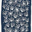 Queen Anne's Lace - Weiß auf Navy von Cat Coquillette