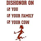 Dishonor on you by paulhooks008