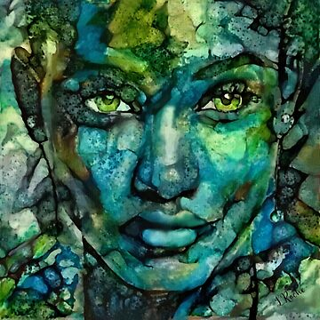 Daughter of the sea- Lea Roche paintings, portrait, woman face, mujer, face, woman by LEAROCHE