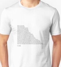 T. S. Elliot Quotes Slim Fit T-Shirt