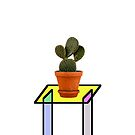 Abstract Reality - Cactus On A Table by Printpix