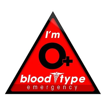 O+ blood type information / stay safe, I suggest application to helmets by VisualAffection