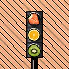 Fruity Traffic Lights by Printpix