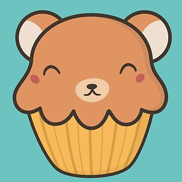 Kawaii Cute Bear Cupcake by happinessinatee