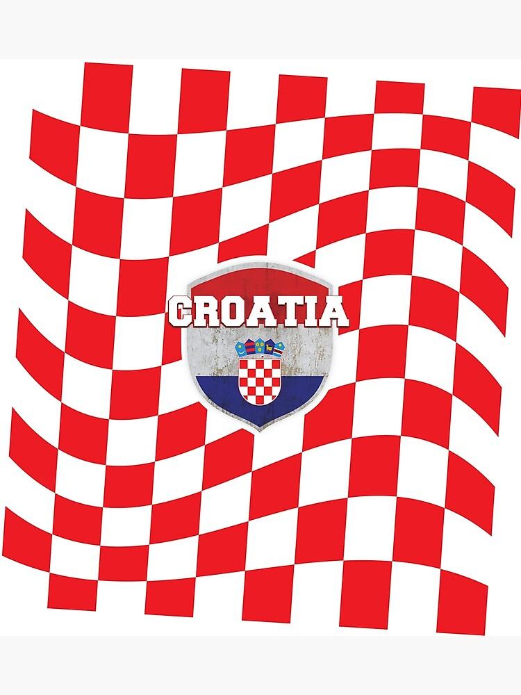 41d140131 CROATIA Croatian Flag Soccer Hrvatska Jersey Style T-shirt Photographic  Print