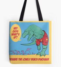 Lonely Beach Dinosaur Tote Bag