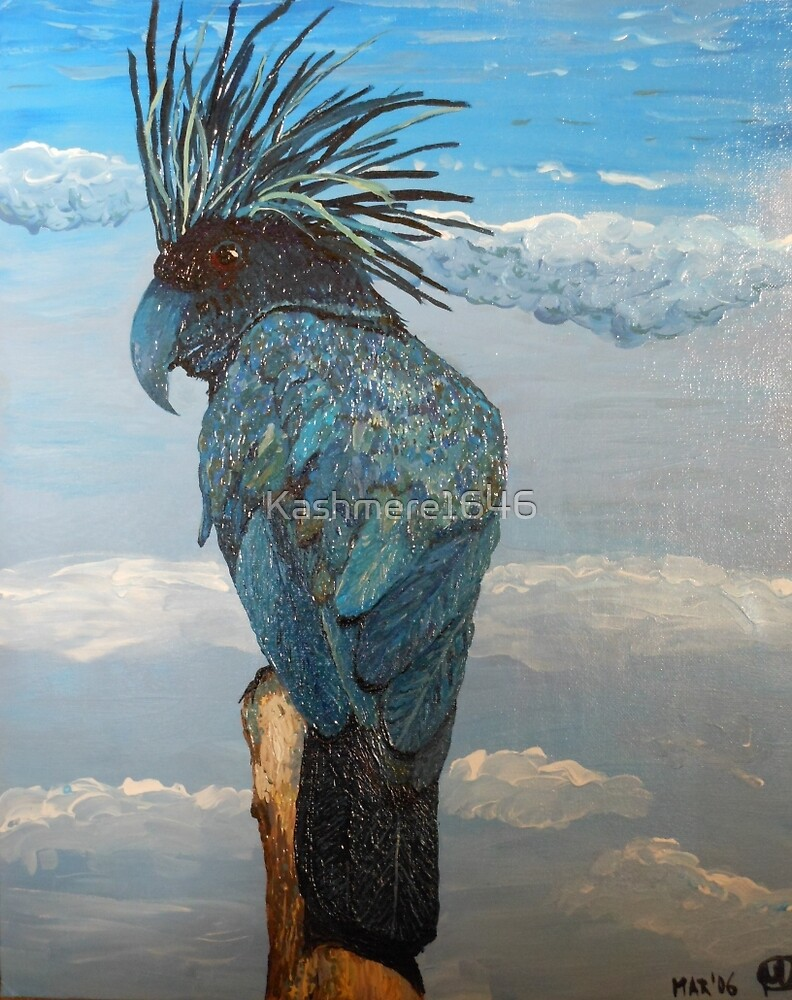 Cockatoo--Midnight Blue in the Clouds by Kashmere1646