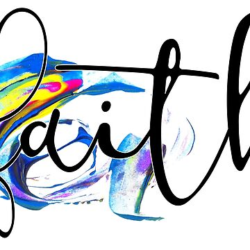 Christian Quote - Faith - Watercolor Typography by ChristianStore