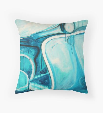 Scooter Abstract - acrylic on canvas 2010 Throw Pillow