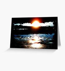 Sunset Ballyholme Greeting Card
