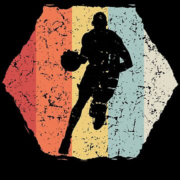 Basketball vintage hexagon by mtsdesign