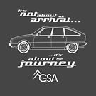 """Citroen GSA Graphic Art. """"It's not about the arrival, it's about the journey"""" by RJWautographics"""