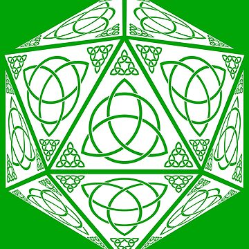 St Patrick's Day Celtic Trinity D20 by heathendesigns