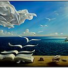 BOOK TO BIRDS: Vintage Fantasy Surreal Print by Dali by posterbobs