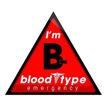 B- blood type information / stay safe, I suggest application to helmets by VisualAffection