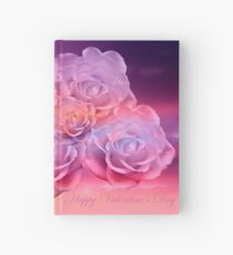 Soft Roses Art Work For Valentines Day Hardcover Journal