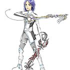 Kingdom hearts styled character design by punkypeggy