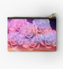Soft Roses And Sea Art Work Studio Pouch