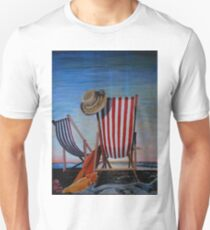 Folding Chairs Watching, Contemplating The Sunset T-Shirt