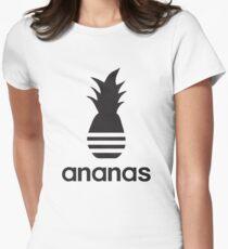 Ananas-Parodielogo Tailliertes T-Shirt für Frauen