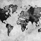 map black and white #map #world by JBJart