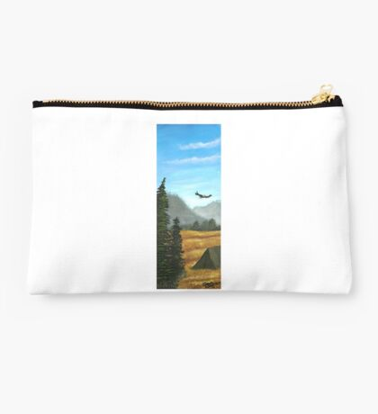 Camping in blue and gold Studio Pouch