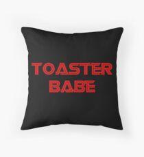 Toaster Babe Throw Pillow