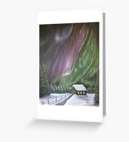 Christmas Glory (Gods Christmas lights) Greeting Card