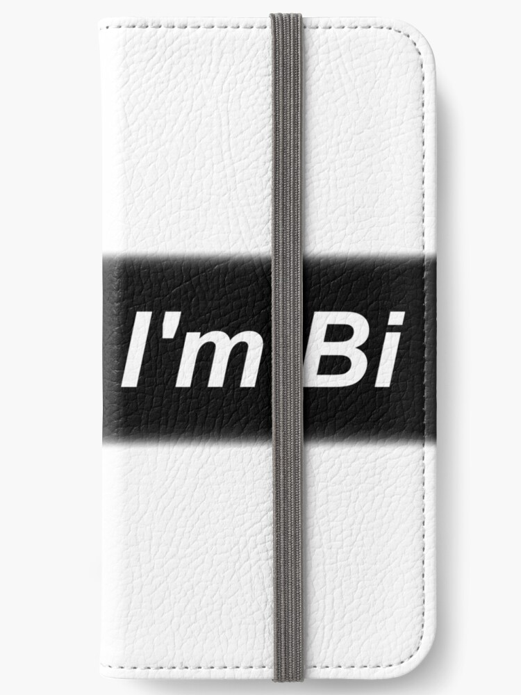 Move I M Bi Aesthetic Tumblr Minimalist Monochrome Iphone Wallet By Fangirl397 Redbubble