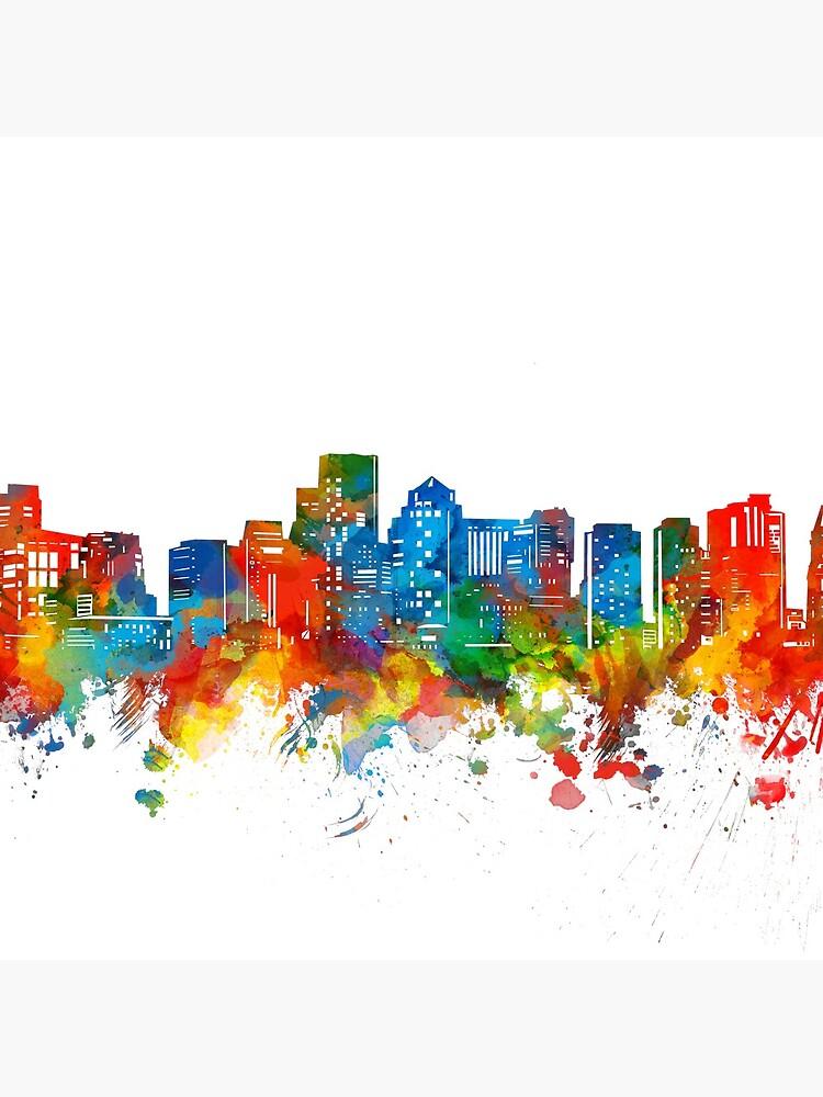 boston skyline by BekimART