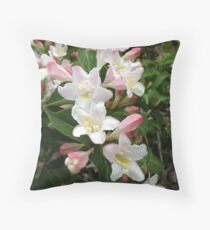 Wiegela Blossoms Throw Pillow