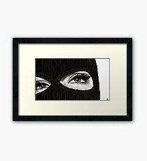 Maske ein Gerahmter Kunstdruck