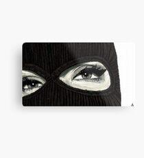 Mask On Metal Print
