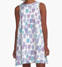 Bunch of blue tulips A-Line Dress