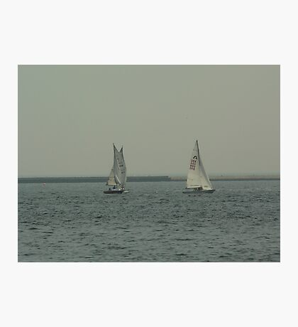 Sailing on Lake Michigan Photographic Print