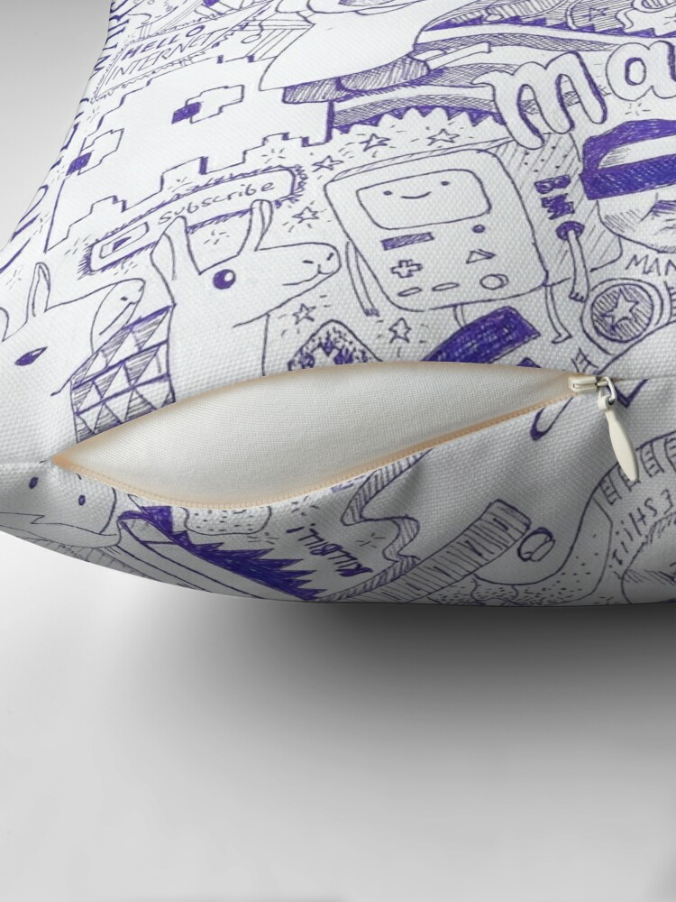 Alternate view of In The Mind of Dan... Throw Pillow